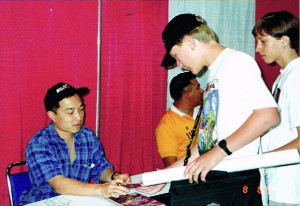 Presenting Jim Lee with the mystery card.