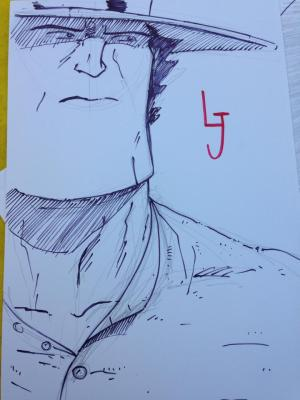 An asymmetrical portrait of Long John, from Crocker-Con 2014