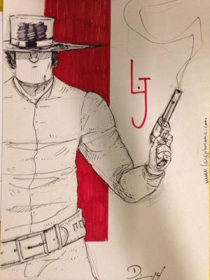 Long John sketch from Crocker-Con 2014