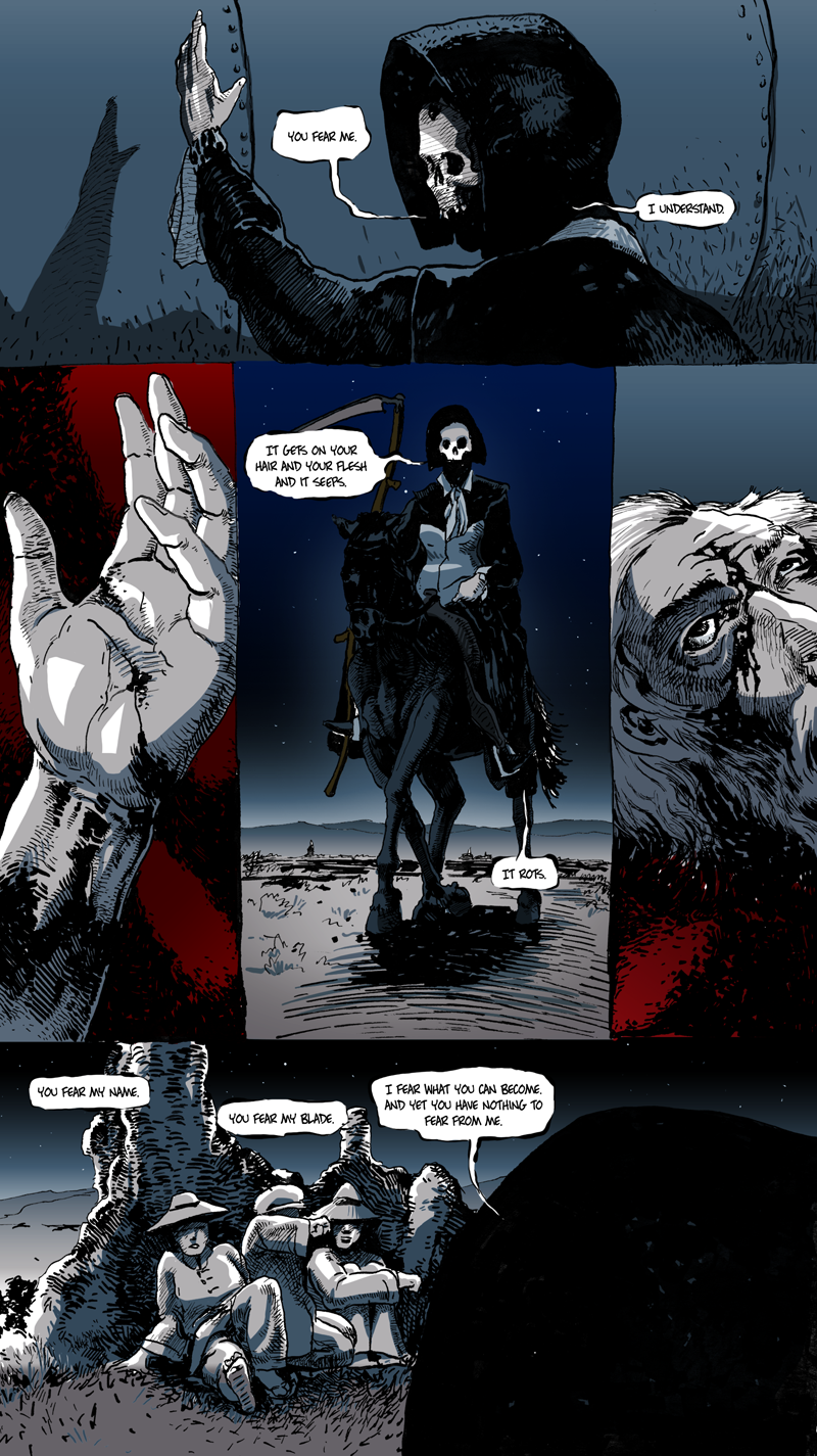 Of course the much darker short story has actually the most color of any Long John comic so far. Deep thoughts, yo.