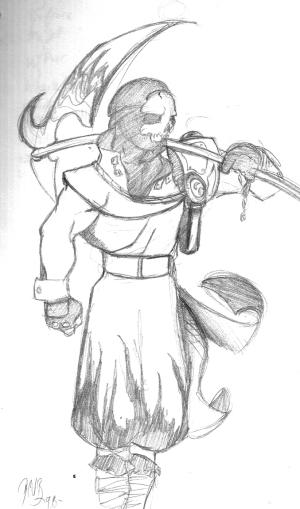 Hellrider Jack. Pencil, 1999.