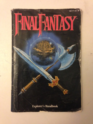 My original copy of Final Fantasy (1)'s instruction book.