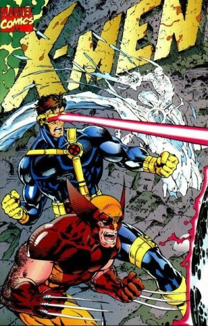 One of 5 different, interlocking covers released for X-Men #1 in 1991. Art by Jim Lee.