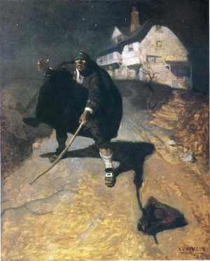 """The Old Pew"" also ""The Blind Pew"" by N.C. Wyeth (1911)."