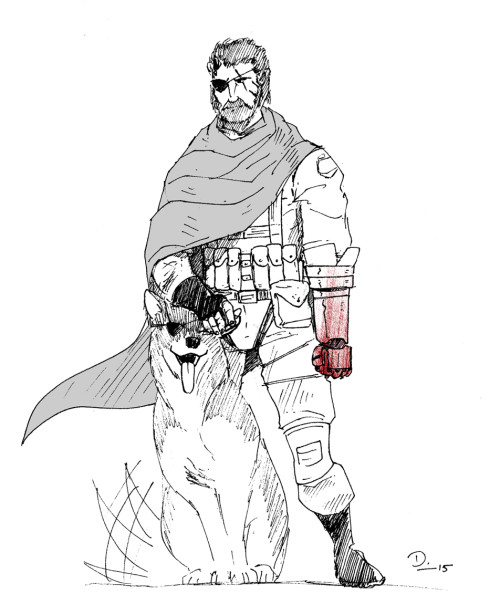 Big Boss & D-Dog from Metal Gear Solid V: The Phantom Pain