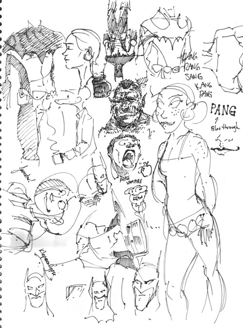 A Pile of Sketches. Click to enlarge.