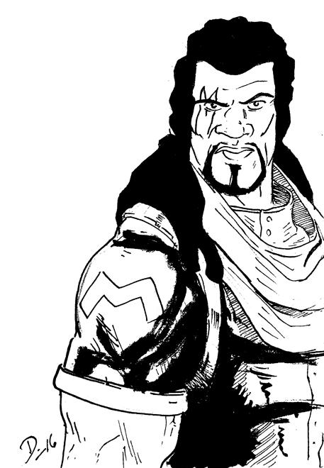 Sketch Fridays #19 - Bishop. Click for larger version.