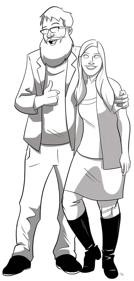 Sketch Fridays #21 - Eben & Jessica Commission