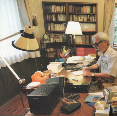 Hayao Miyazaki doing something smart, I'm sure. Source: Kotaku and Livedoor