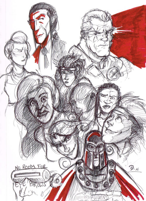 Sketch Fridays #25 - Faces. Click to Enlarge