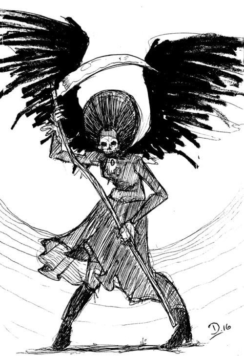Sketch Fridays #29 - Hellrider Jackie