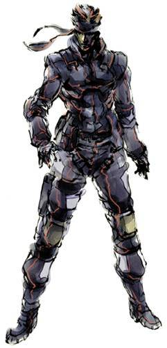 Solid Snake from Metal Gear Solid, art by Yoji Shinkawa