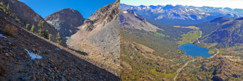 Lundy Pass on the left, Tioga Pass on the right.
