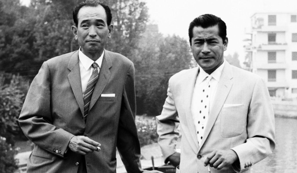 Akira Kurosawa (left) and Toshiro Mifune (right) in Venice. Source: akirakurosawa.info